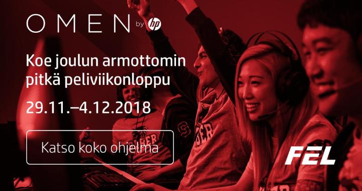 OMEN by HP ja Finnish Esports League valtaavat Kauppakeskus Kampin: Tule haastamaan mestarit ja voita upeita palkintoja!